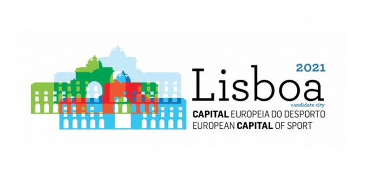 Logótipo da Capital Europeia do Desporto 2021 - Lisboa