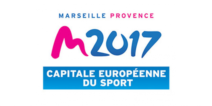 Logótipo da Capital Europeia do Desporto 2017 - Marselha