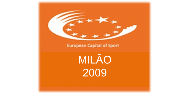 Logótipo da Capital Europeia do Desporto 2009 - Milão