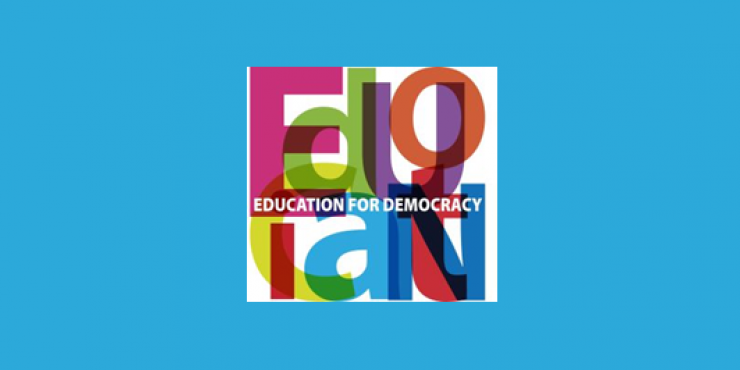 Logótipo do projeto Education for Democracy - Conselho da Europa